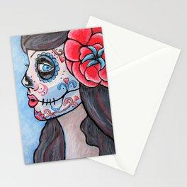 Sugar Skull Zombie Girl Stationery Cards
