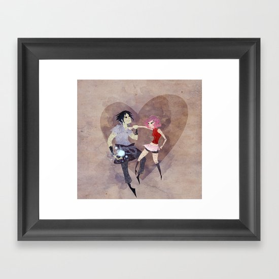 I hate to love you! Framed Art Print