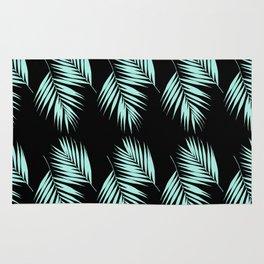 Palm Leaves Pattern #2 #Mint #Black #decor #art #society6 Rug