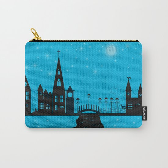 Winter night . Christmas.  Carry-All Pouch