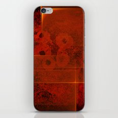 Abstract fiery landscape iPhone Skin