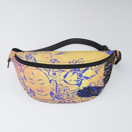 White Tara and Her Crows Fanny Pack