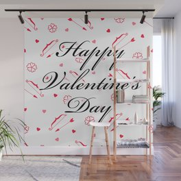 Happy Valentine's Day: Cupid's Arrow Wall Mural