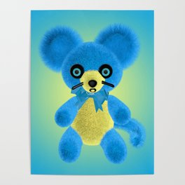 Blue Mouse Poster