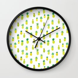 Pineapple Pattern Wall Clock