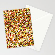Noise pattern - yellow/red Stationery Cards