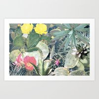 cacti Art Prints featuring CACTI by Beth Hoeckel