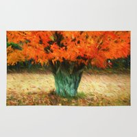 van gogh Area & Throw Rugs featuring Van Gogh Autumn by ThePhotoGuyDarren