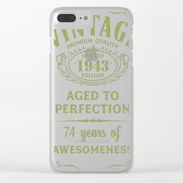 Green-Vintage-Limited-1943-Edition---74th-Birthday-Gift Clear iPhone Case
