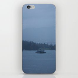 Foggy harbour Vancouver iPhone Skin