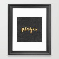 Player Framed Art Print