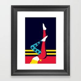 wonder fitness Framed Art Print