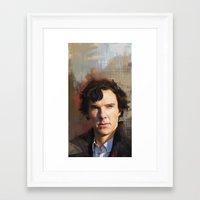 sherlock holmes Framed Art Prints featuring Sherlock Holmes by Wisesnail