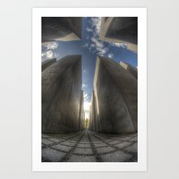 jewish Art Prints featuring Jewish memorial wide by Cozmic Photos