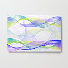 Background with colorful lines Metal Print