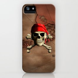The Jolly Roger Pirate Map iPhone Case