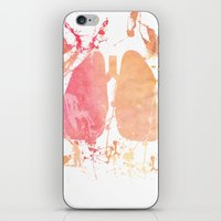 lungs iPhone & iPod Skins featuring lungs by divinerush