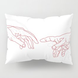 The Red Creation Pillow Sham