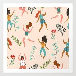 Central Park Workout #illustration #pattern #womensday Art Print