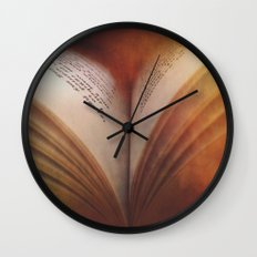 Between The Pages Of A Book Wall Clock