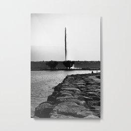 Jet D'eau Lake Geneva Metal Print