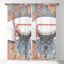 Basketball art swoosh 69 Sheer Curtain