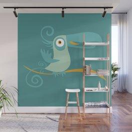 Mid Century Modern Tropical Toucan Tiki Bird Wall Mural