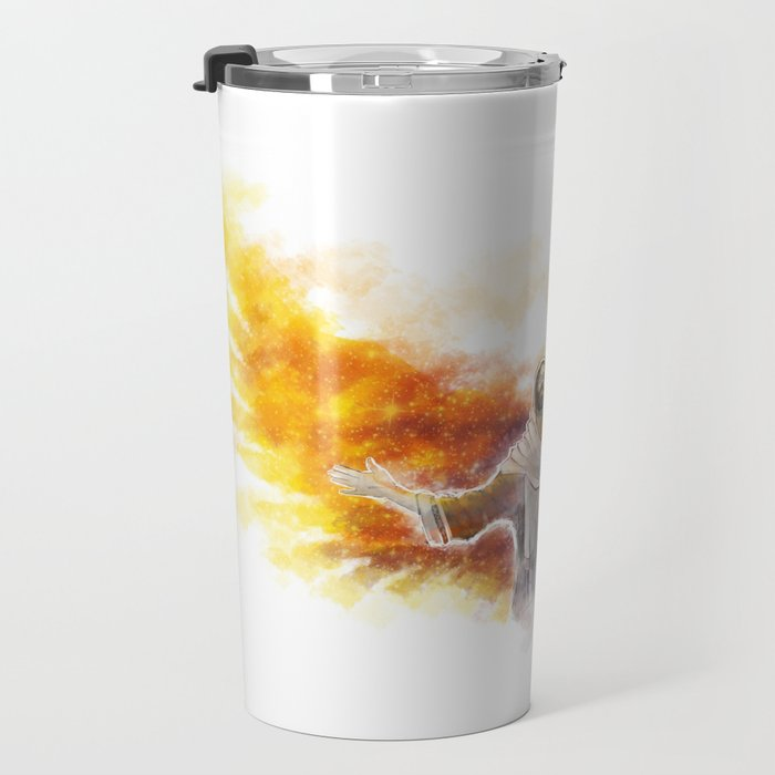 On Wings Like Eagles (Isaiah 40:31) Travel Mug