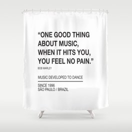 Good Thing About Music Shower Curtain