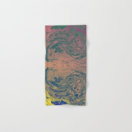Pink Neon Marble - Earth Gum #nature #planet #marble Hand & Bath Towel