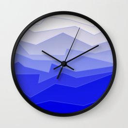 Chaos Sea Blue Wall Clock