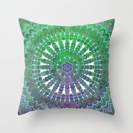 Spring Mandala Wheel Throw Pillow