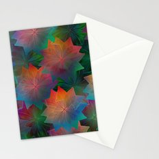 Skeleton Leaf Abstract 2 Stationery Cards