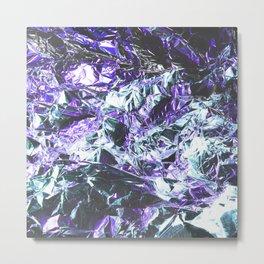 Metal Foil Texture Violet Blue Color Metal Print