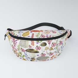 Colorful Autumn woodland animals and foliage pattern Fanny Pack