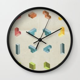 80s Starter Pack Wall Clock