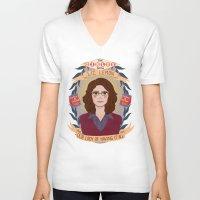 heymonster V-neck T-shirts featuring Liz Lemon by heymonster