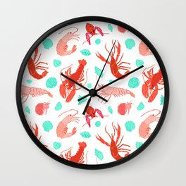 Dance of the Crustaceans in Pearl White Wall Clock