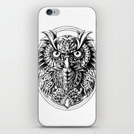 Owl Portrait iPhone Skin