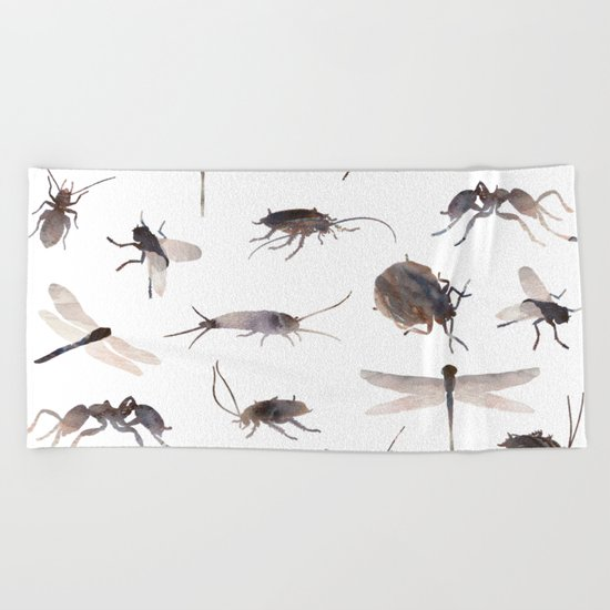 Insects Mix Beach Towel