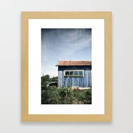 La Cabane bleue Framed Art Print
