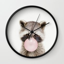 Bubble Gum Raccoon Wall Clock