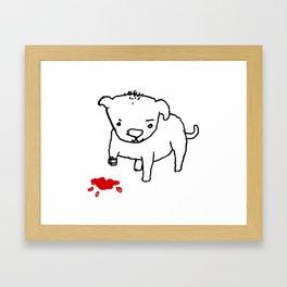 poor dog Framed Art Print