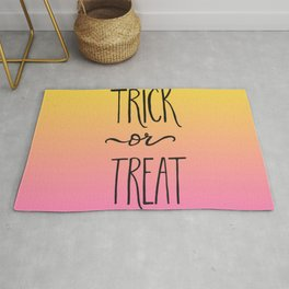 Trick or Treat Hand Lettered Halloween Decor Rug