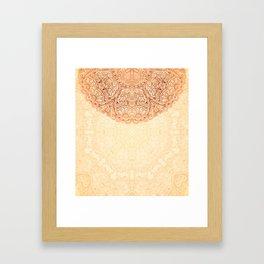 Elegance Ornate Mehndi Mandala v.2 Framed Art Print