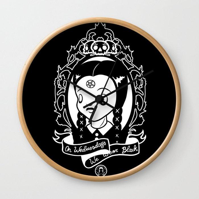 On Wednesdays We Wear Black Wall Clock