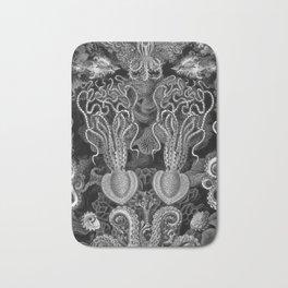 The Kraken (Black & White - NoText, Alt.) Bath Mat