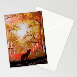 Howling Into The Woods Stationery Cards