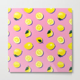Pink Lemon ~ 80's Pattern Metal Print