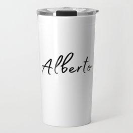Alberto Calligraphy Travel Mug